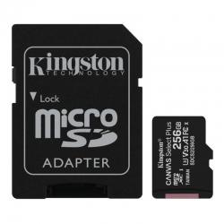 Карта пам'яті Kingston 256 GB microSDXC Class 10 UHS-I U3 Canvas Select Plus + SD Adapter SDCS2/256GB