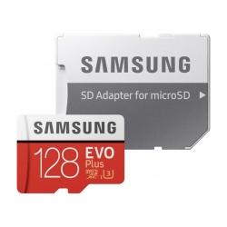 Карта пам'яті Samsung 128 GB microSDXC Class 10 UHS-I U3 EVO Plus 2020 + SD Adapter MB-MC128HA