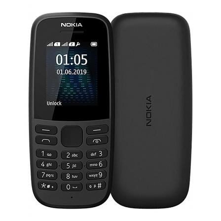 Мобильный телефон Nokia 105 Single Sim 2019 Black (16KIGB01A13) Без зарядного устройства
