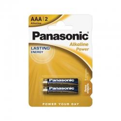 Батарейки Panasonic ALKALINE POWER щелочные AAA блистер, 2 шт. LR03REB/2BP
