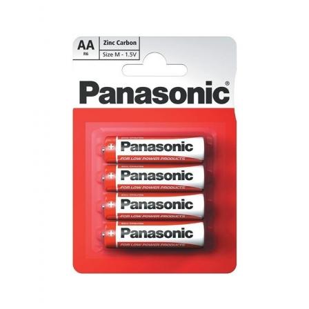 Батарейки Panasonic Red Zink угольно-цинковые AA (R6) блистер, 4 шт. R6REL/4BPR