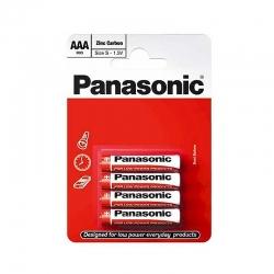 Батарейки Panasonic Red Zink угольно-цинковые AAA (R3) блистер, 4 шт. R03REL/4BP