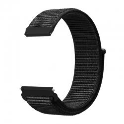 Ремінець нейлоновий для годин 20mm Black