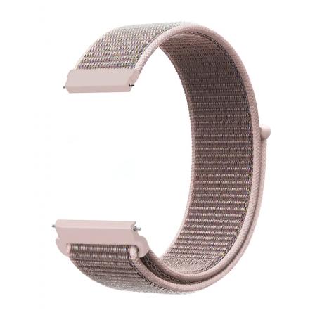 Ремешок нейлоновый для часов 22mm Rose-pink