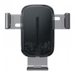 Автомобільний тримач для телефону з БЗП Baseus Explore Wireless Charger Gravity Car Mount (15W) Transparent (WXYL-K02)