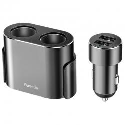 Автомобільний зарядний пристрій Baseus High Efficiency One to Two Cigarette Lighter Black (CRDYQ-01)