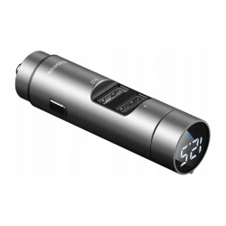 АЗП з FM-трансмітером Baseus Energy Wireless MP3 Charger Silver (CCNLZ-0S)
