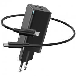 СЗУ Baseus GaN2 Q.Charger C+C 45W With Mini Cable Type-C toType-C 60W Black (CCGAN-M01)