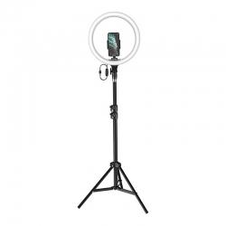Кольцевая светодиодная LED лампа Baseus Live Stream Holder-floor Stand (12-inch LightRing) + Штатив Black (CRZB12-B01)