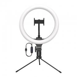Кольцевая светодиодная LED лампа Baseus Live Stream Holder-table Stand (10-inch Light Ring) (CRZB10-A01)