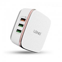 Мережевий зарядний пристрій LDNIO A6704 White
