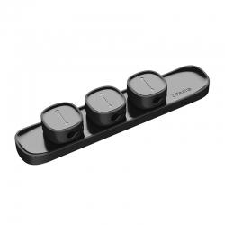 Органайзер для кабеля Baseus Peas Cable Clip Black (ACWDJ-01)