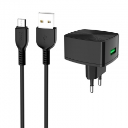 Комплект HOCO 18W C70A 3A micro-USB Black