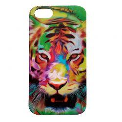 Чехол-накладка iPhone 5/5S Тигр Глянец