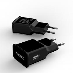 Зарядное устройство Voltex USB 2A Black
