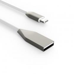 Кабель Flat Metal USB - Apple Lightning 2А White