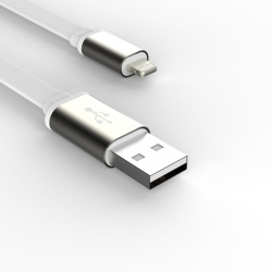 Кабель Flat long 1.5m - Apple Lightning 2А White