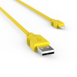 Кабель SOFT long 2m USB - Apple Lightning 2А Yellow