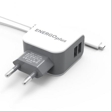Зарядний пристрій Voltex 1.5A 2USB + micro USB White
