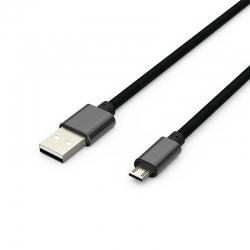 Кабель Metal USB -  microUSB 2А Black