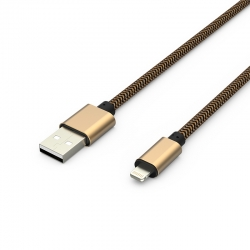 Кабель Metal USB - Apple Lightning 2А Gold