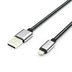 Кабель Metal USB - Apple Lightning 2А White