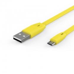 Кабель Flat EASY - microUSB 2А Yellow