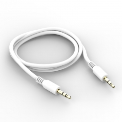 Кабель AUX 3.5 mm - 3.5 mm Silicon White