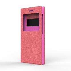 """Чехол универсальный S Design Texture Jeans 5,3-5,5"""" Pink"""