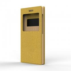 """Чехол универсальный S Design Texture Jeans 5,3-5"""" Gold"""