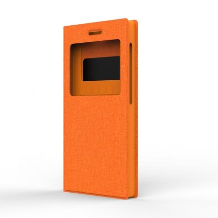 """Чехол универсальный S Design Texture Jeans 5,3-5"""" Orange"""