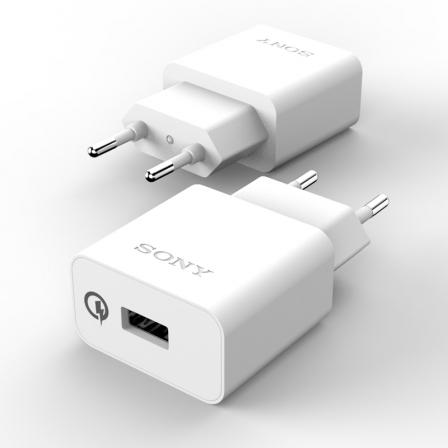 Зарядное устройство Quickcharge SONY 2A/9V White