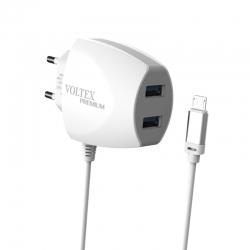 Зарядний пристрій Voltex Premium 3.1A/5V White