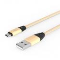 Кабель Nylon USB — microUSB Android 2А Gold