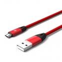 Кабель Nylon USB — microUSB Android 2А Red