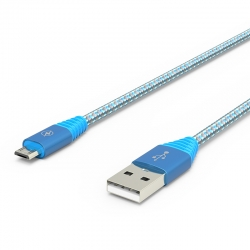 Кабель Flicker USB — microUSB Android 2А Blue