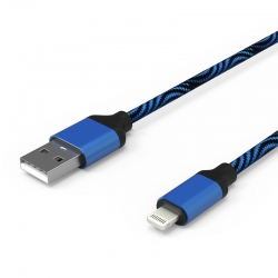 Кабель Zebra USB — Apple Lightning Iphone 2А Blue