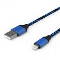 Кабель Zebra USB — Apple Lightning Iphone 2А Blue