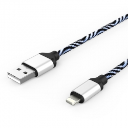 Кабель Zebra USB — Apple Lightning Iphone 2А White