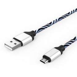 Кабель Zebra USB — microUSB Android 2А White