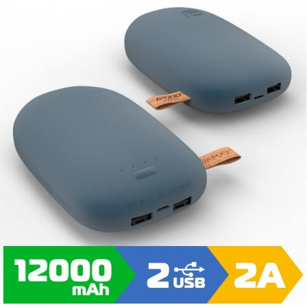 Внешний аккумулятор VAMAX 12000mAh Blue