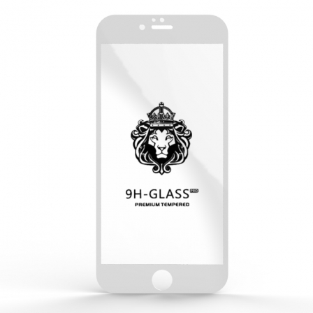 Защитное стекло Glass 9H iPhone 6 Plus White