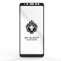 Захисне скло Glass 9H Samsung A8 Plus 2018 (A730) Black