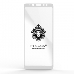 Захисне скло Glass 9H Samsung A8 Plus 2018 (A730) White