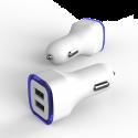 Автомобильное зарядное устройство 2.1А LED White