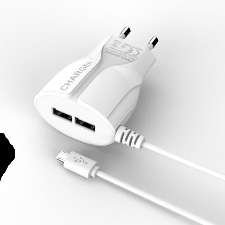 Мережевий зарядний пристрій Trapez White