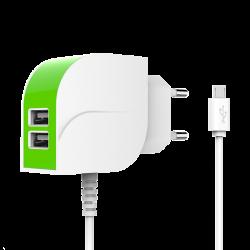 Мережевий зарядний пристрій List White-Green