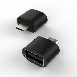 Адаптер MicroUSB-OTG Metal Black