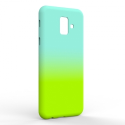 Чехол-накладка Samsung A6 2018 Gradient Blue-Green