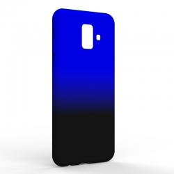 Чехол-накладка Samsung A6 2018 Gradient Black-Blue